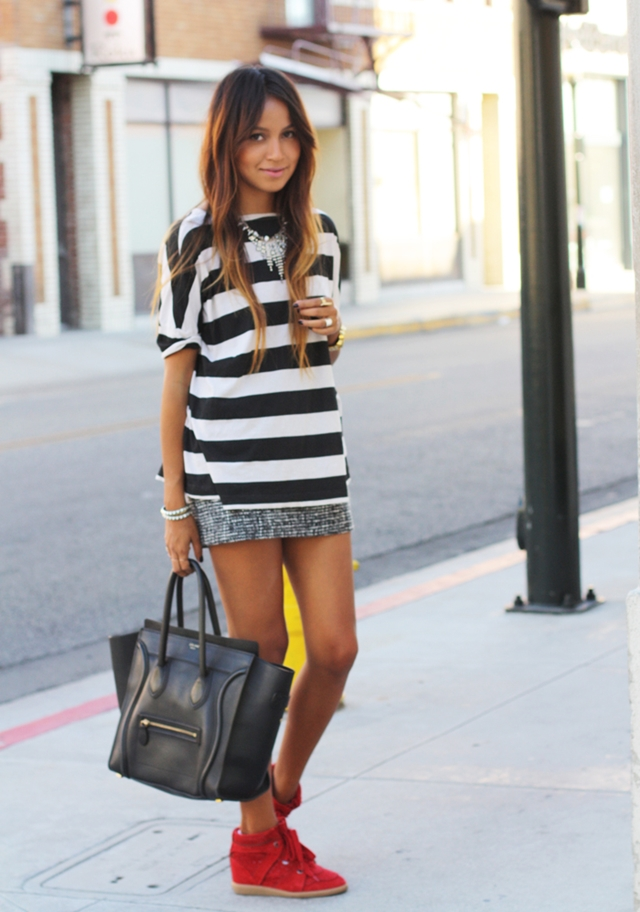 7 Ohmyblog Inspo Black White Stripes Rayas Blanco Y Negro Outfit Streetstyle Sincerely Jules ...